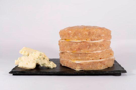 hamburguesa proteica pollo sabor queso azul maria natura