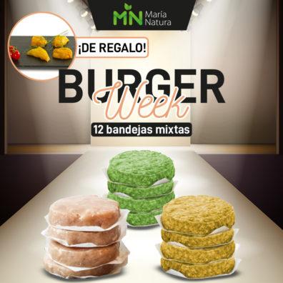 PACK AHORRO 12 bandejas Burger FIT mixtas + Pinchos de regalo